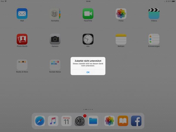 Meldung iPad