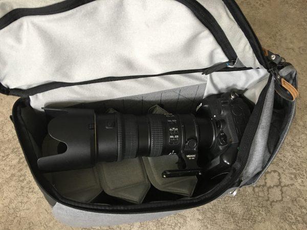 Peak Design Daypack 30L Nikon D4 70-200