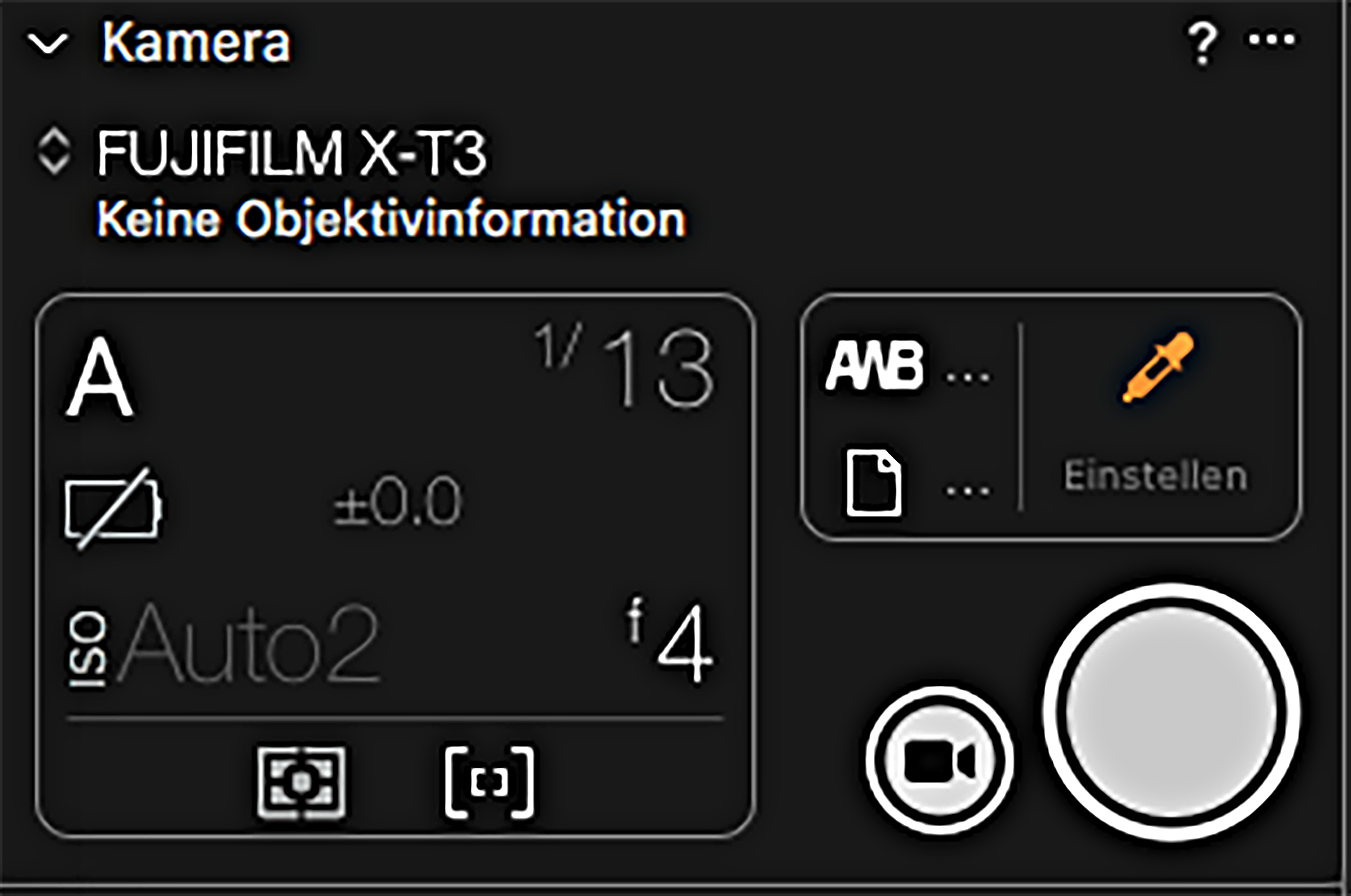 Tether Shooting Fujifilm X-T3 mit Capture One